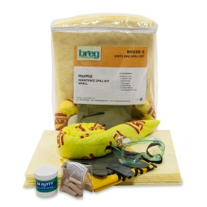 Breg HazMat Vinyl Zipper Spill Kit - Small